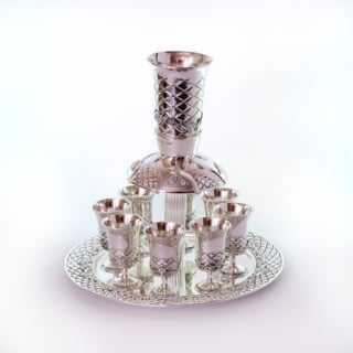 Silver plated kiddush cups set