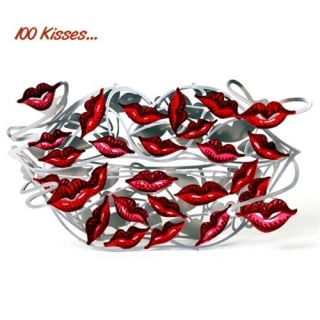 One Hundred Kisses Sculpture by aJudaica