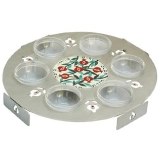 Colorful Pomegranate Seder Plate by Dorit by aJudaica