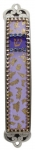 Violet and Gold Mezuzah Case by Iris