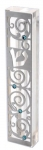 Arabesque Mezuzah Case by Dorit  Stainless Steel