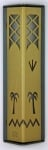 Metal Date Palm Mezuzah Case by Shraga Landesman   Gold