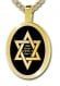 Gold Plated Star of David Pendant Shema Yisrael