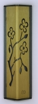 Gold Almond Tree Mezuzah Case by Shraga Landesman