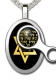 Oval Silver Song Of Ascents Star of David Pendant