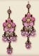 Lilac Dangle Flower Earrings by Orly Zeelon