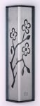 Metal Almond Tree Mezuzah Case by Shraga Landesman   Silver