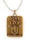 Israeli Army Dog Tag Bronze Pendant Jerusalem