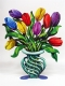 David Gerstein Tulip Flowers Vase