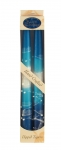 Pair of Kosher Safed Candle Tapers   Turquoise Blue