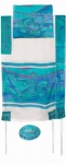 Emanuel Silk Tallit   Vista in blue