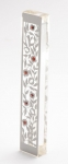 Large Pomegranate Red Stone Mezuzah Case by Dorit
