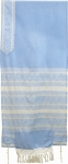 Rikmat Elimelech Handloom Woven Light Blue Silk Tallit