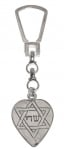 Sterling Silver Heart Keychain   Name of God