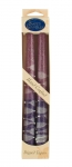 Pair of Kosher Safed Candle Tapers   Purple Lavender