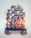Doves in Flight Hanukah Menorah by David Gerstein