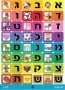 Colorful Square Alef Bet Stickers With Pictures