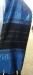 Gabrieli silk Tallit Set in Blue with Black