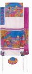 Emanuel Silk Tallit   Jerusalem in color