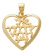 Heart Pendant  I am for my Beloved