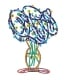 Blue Bouquet Flowers Vase