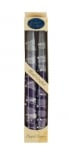 Pair of Kosher Safed Candle Tapers   Purple Gray