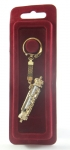 Gold Key Chain Car Mezuzah    Scroll Style