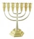 Jerusalem Silver And Gold Seven Branch Menorah