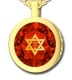 Gold Plated Star of David Jewelry with Shema Yisrael Prayer