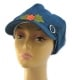 Womens Denim Cap with flower applique