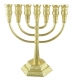 Jerusalem Gold Colored Seven Branch Menorah