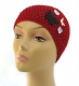 Chaponne Pull On Crocheted Womens Hat with applique
