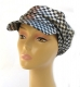 Womens Metallic Silver and Black Cap