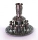 Pewter Jerusalem Kiddush cups set