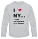 I Love NY But  Long Sleeved T Shirt