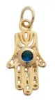 Gold Filled Blue stone Hamsa Pendant