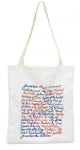 Names of Jerusalem Tote Bag   White