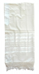 Sefardi Wool Tallit with Net Fringe