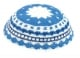 Blue And White DMC knitted Kippah