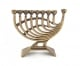 Brass Hanukka Menorah Harp Design