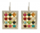 Colorful Gold Filled Choshen Earrings