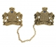 Antique Gold Plated Lions Tallit Clips