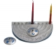 Shalom Hanukkah Menorah and Dreidel by Shraga Landesman