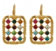 Gold Filled Colorful Choshen Earrings