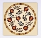Red Pomegranate Trivet by Dorit