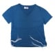 Adult Denim Blue T Shirt with Tzitzit