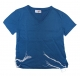 Childrens Denim Blue T Shirt with attached Tzitzit