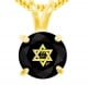 Shema Yisrael Star of David 14k Gold Necklace
