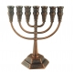 Jerusalem Bronze Seven Branch Menorah