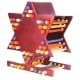 Aluminum Star of David Candle Storage Menorah Magenta by Emanuel